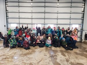 Students at Maple Syrup Farm